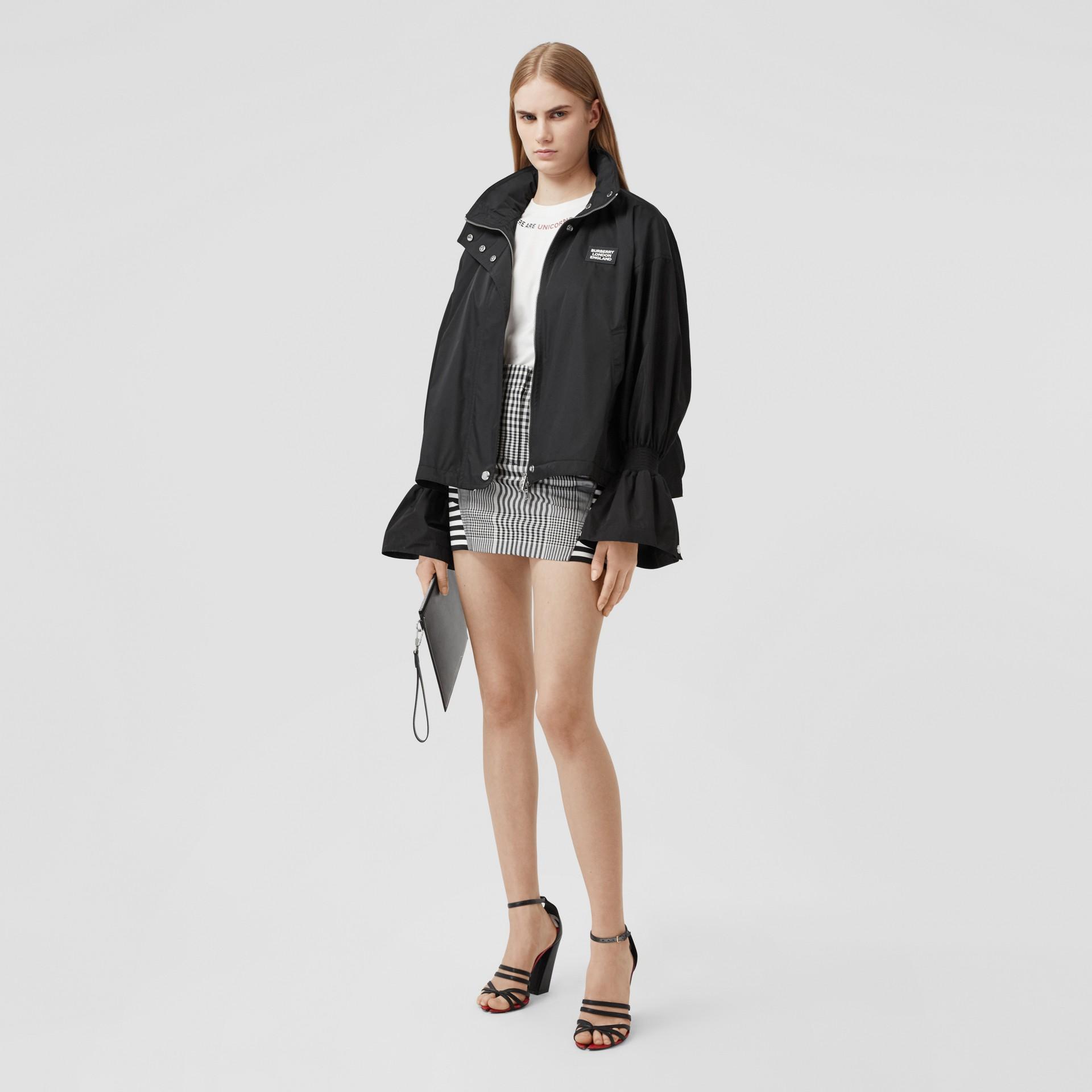 Packaway Hood Bio-based Nylon Jacket in Black - Women | Burberry - gallery image 0