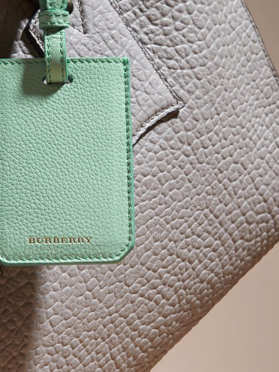 Light mint Grainy Leather Luggage Tag Light Mint - cell image 2