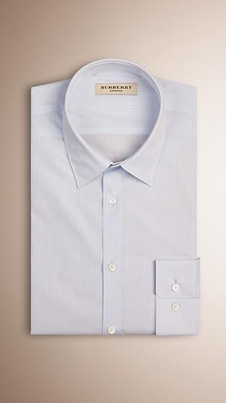 Slim Fit Fine Striped Cotton Shirt