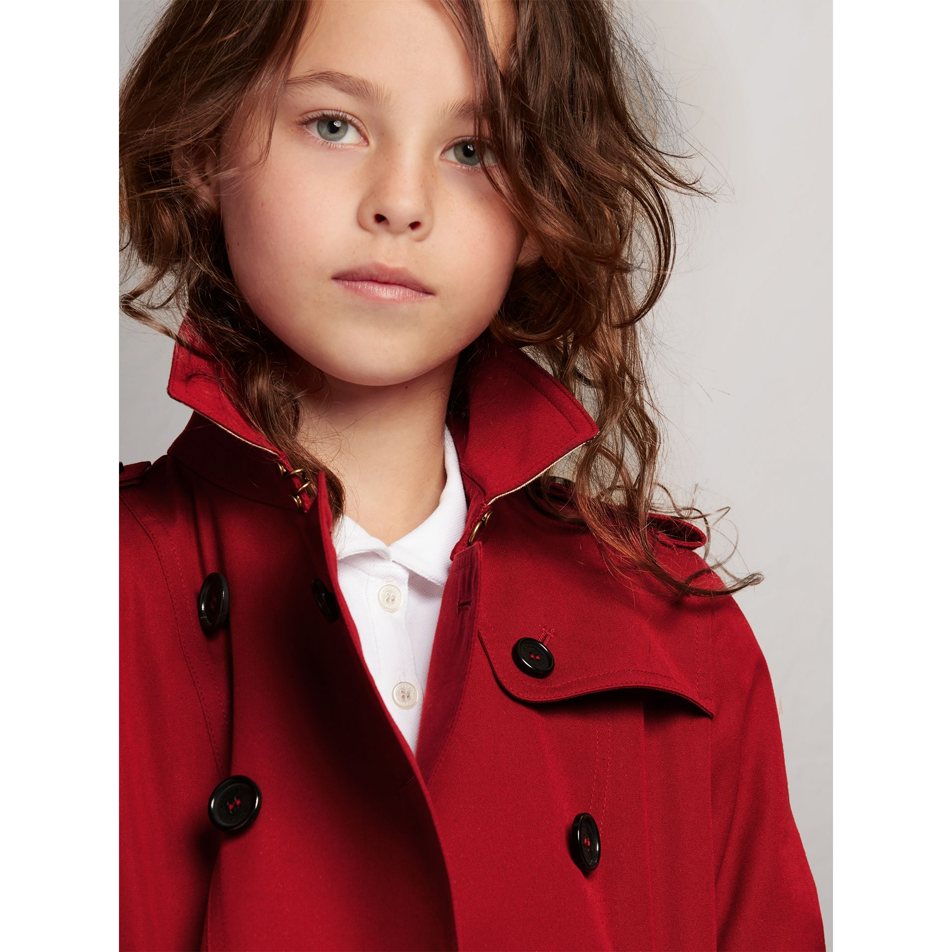 The Sandringham Trench Coat in Parade Red - Girl | Burberry - gallery image 2