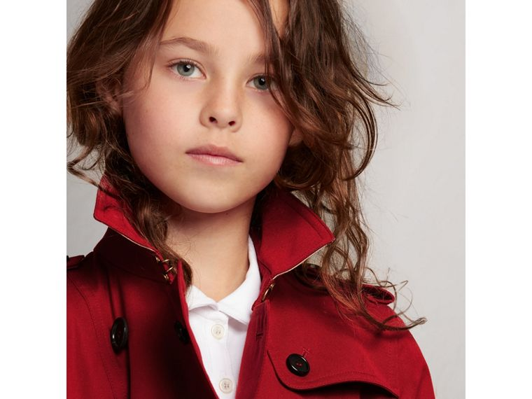 The Sandringham Trench Coat in Parade Red - Girl | Burberry Australia - cell image 1