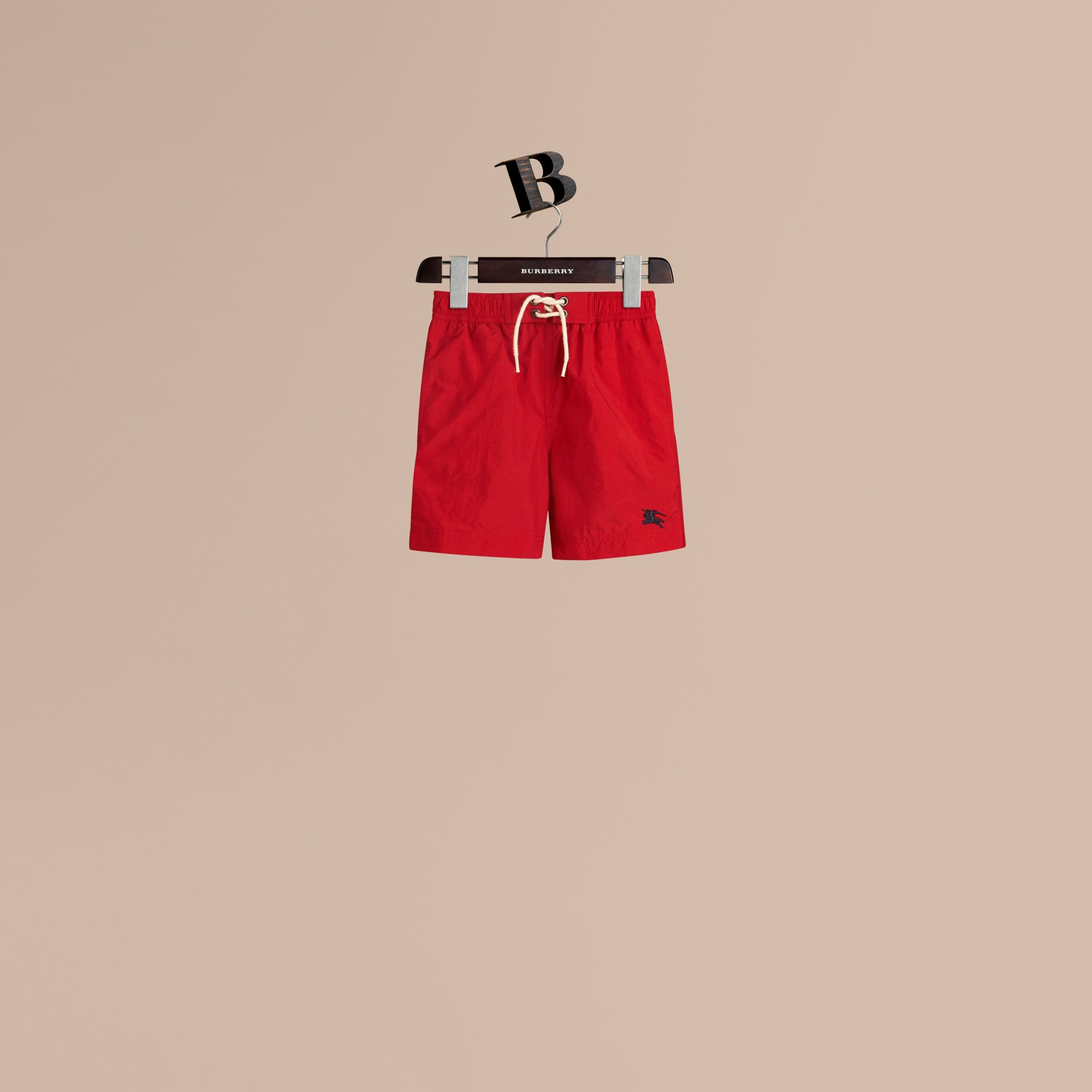 Lightweight Swim Shorts in Military Red - Boy | Burberry Australia - gallery image 1