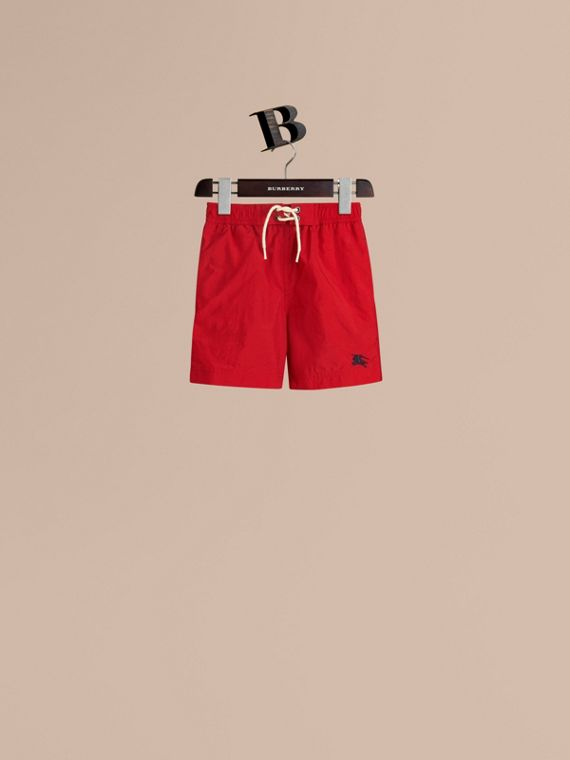 Lightweight Swim Shorts in Military Red - Boy | Burberry