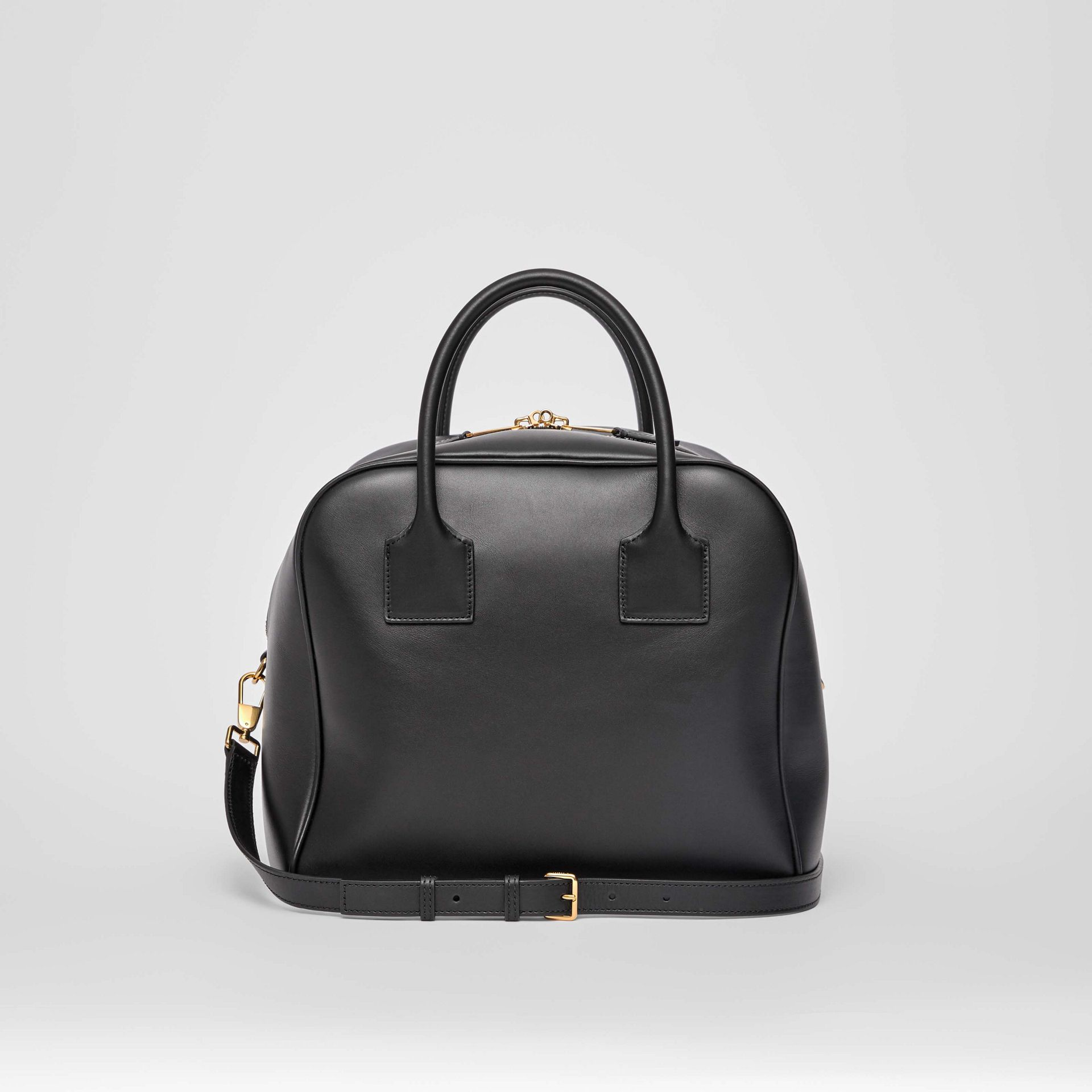 Medium Leather Cube Bag in Black - Women | Burberry - gallery image 5