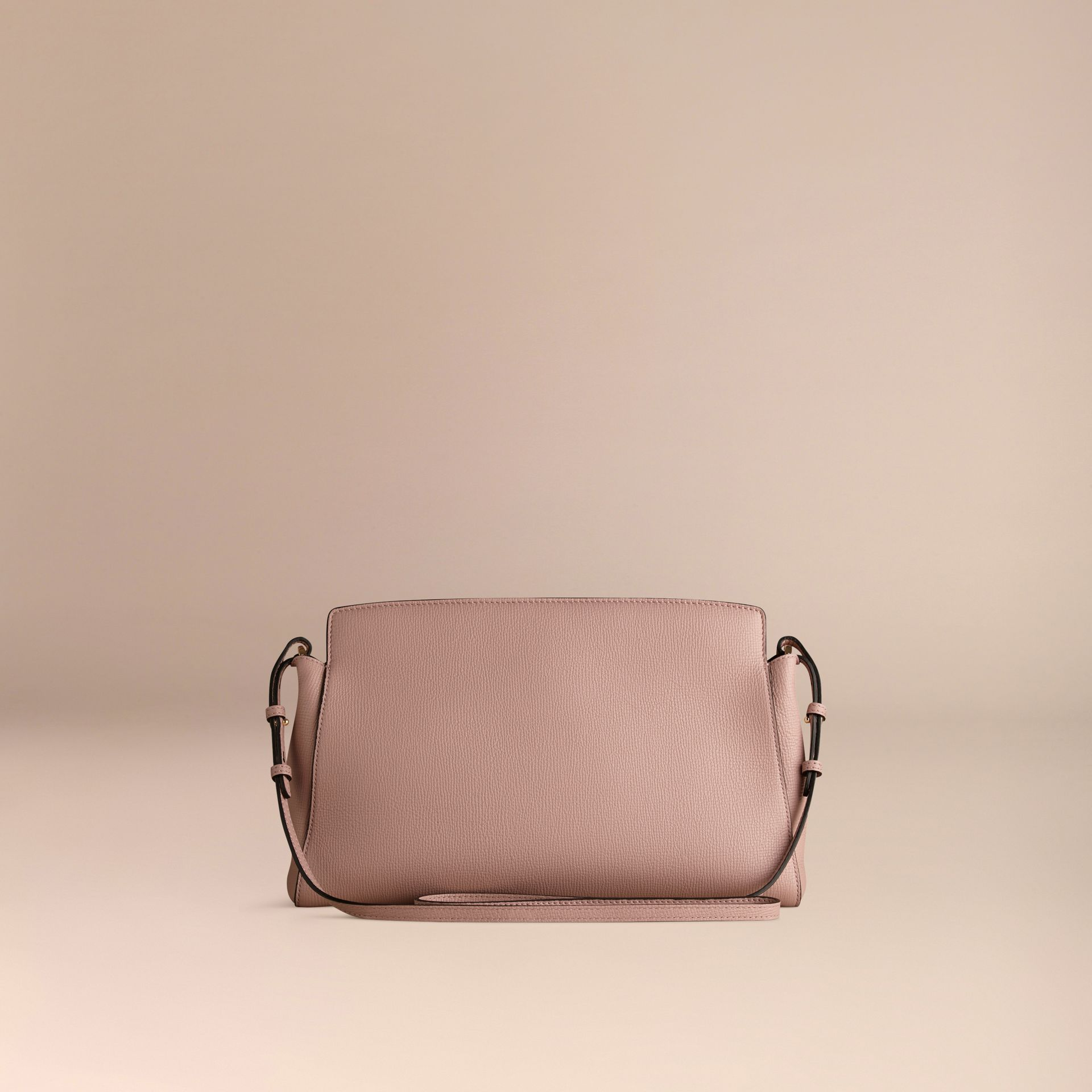 Pale orchid The Saddle Clutch in Grainy Bonded Leather - gallery image 4