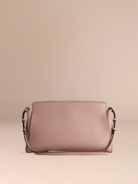 Pale orchid The Saddle Clutch in Grainy Bonded Leather - cell image 3