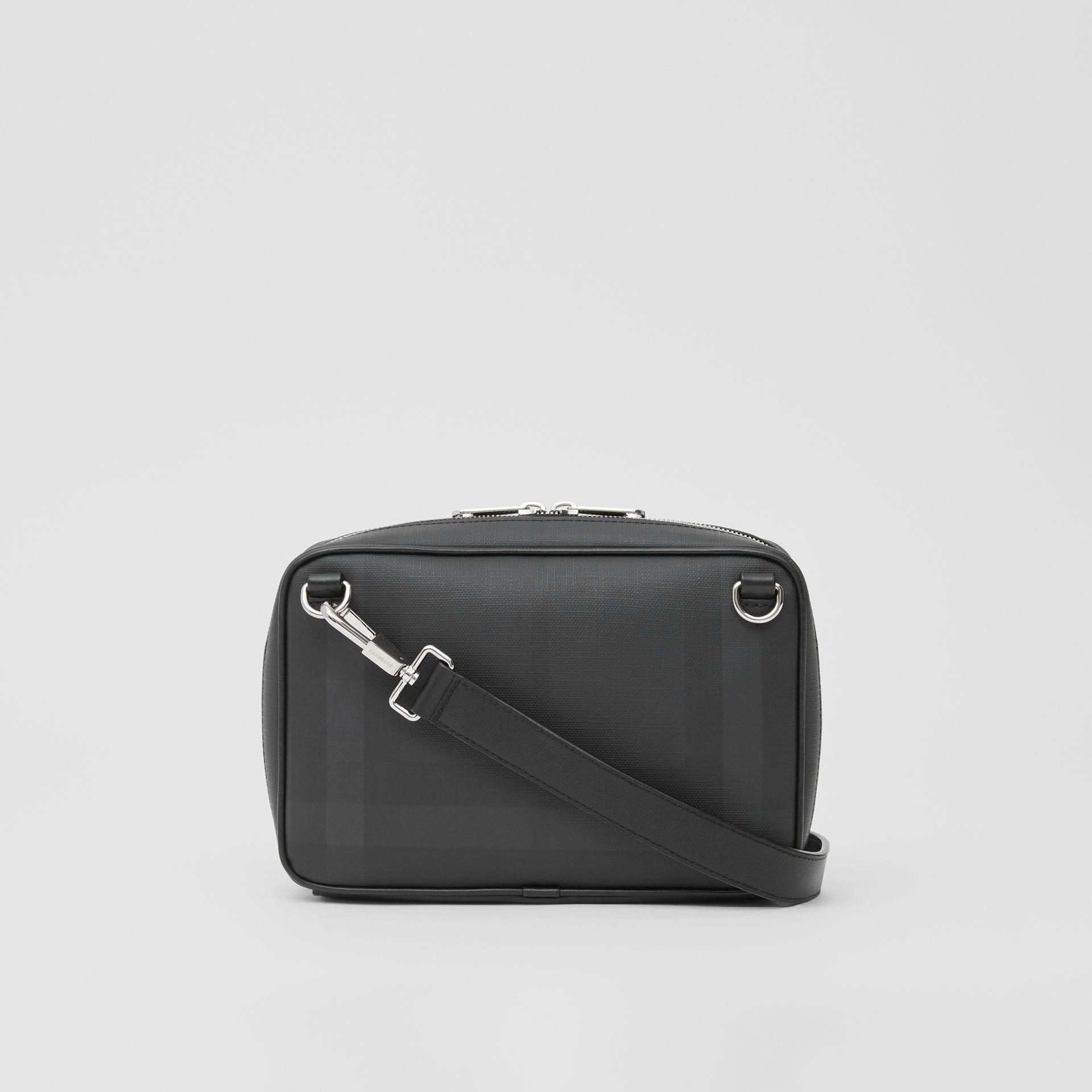 Logo Graphic London Check Crossbody Bag in Dark Charcoal - Men | Burberry United Kingdom - gallery image 7