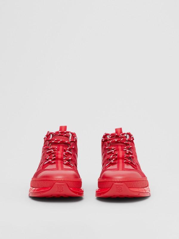 尼龍和皮革 Union 運動鞋 (亮紅色) - 女款   Burberry - cell image 3