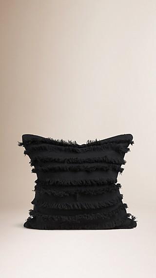 Housse de coussin en fil coupé de cachemire