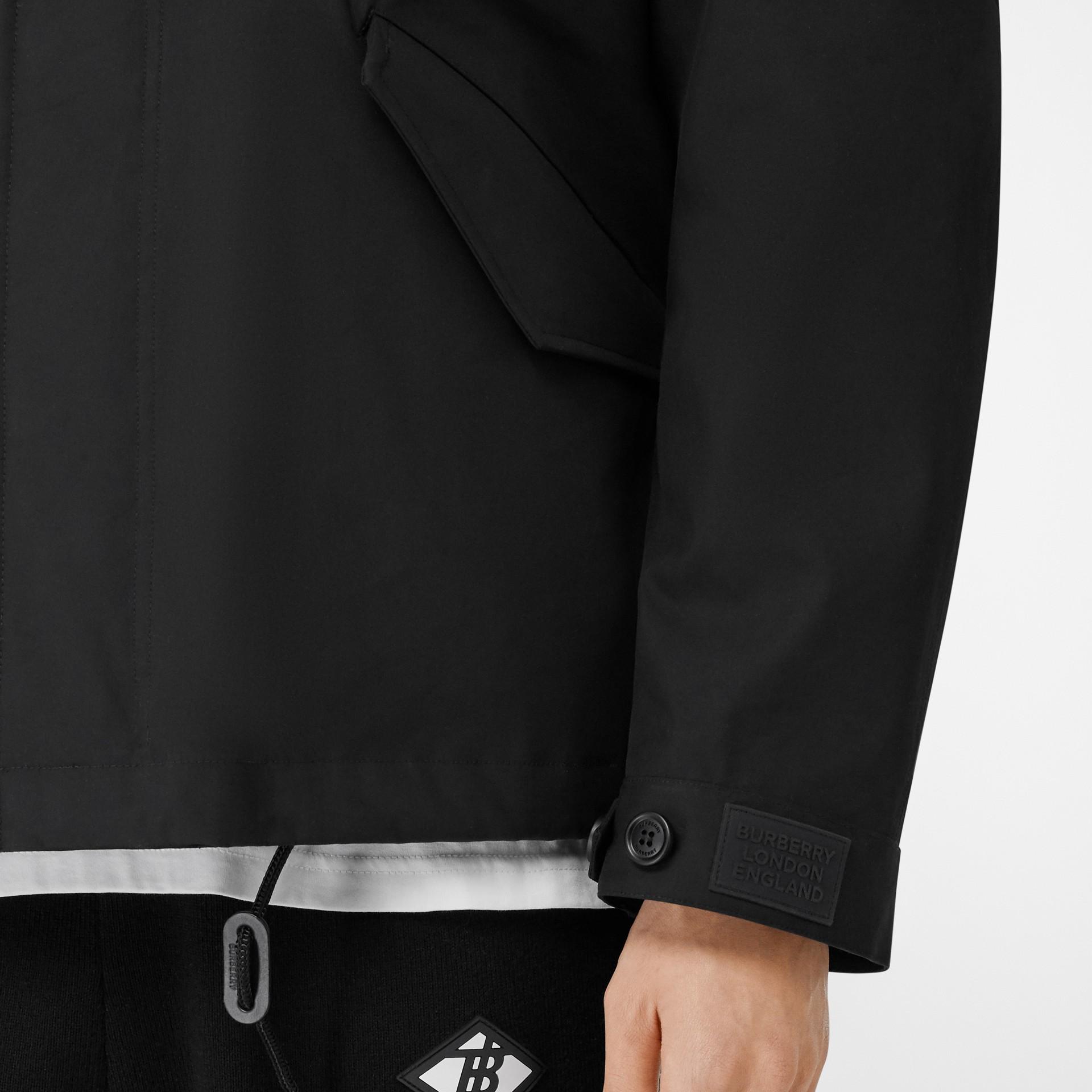 Veste en coton contrecollé avec gilet intérieur amovible (Noir) - Homme | Burberry - photo de la galerie 4
