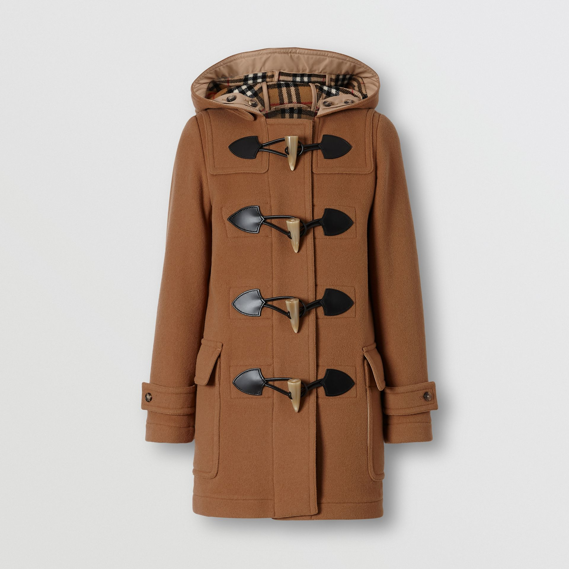 Wool Blend Duffle Coat in Camel - Women | Burberry - gallery image 5