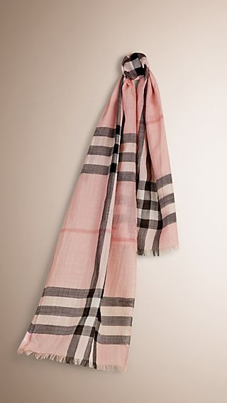 Exploded Check Wool Silk Scarf