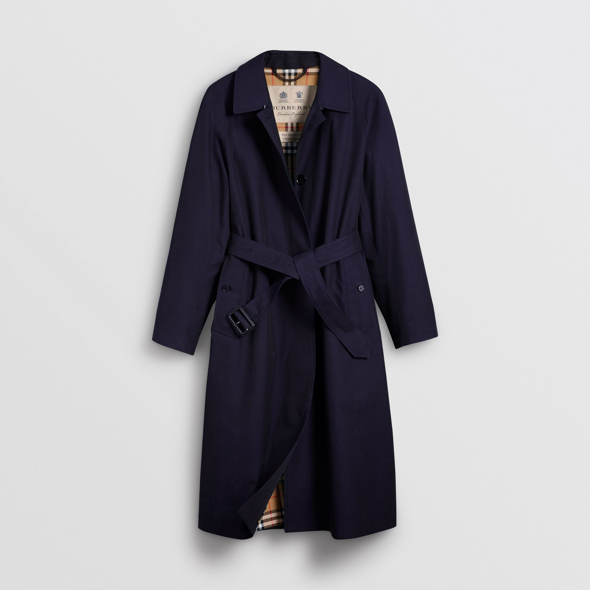 The Brighton Car Coat (Blu Carbonio) - Donna | Burberry - immagine della galleria 3