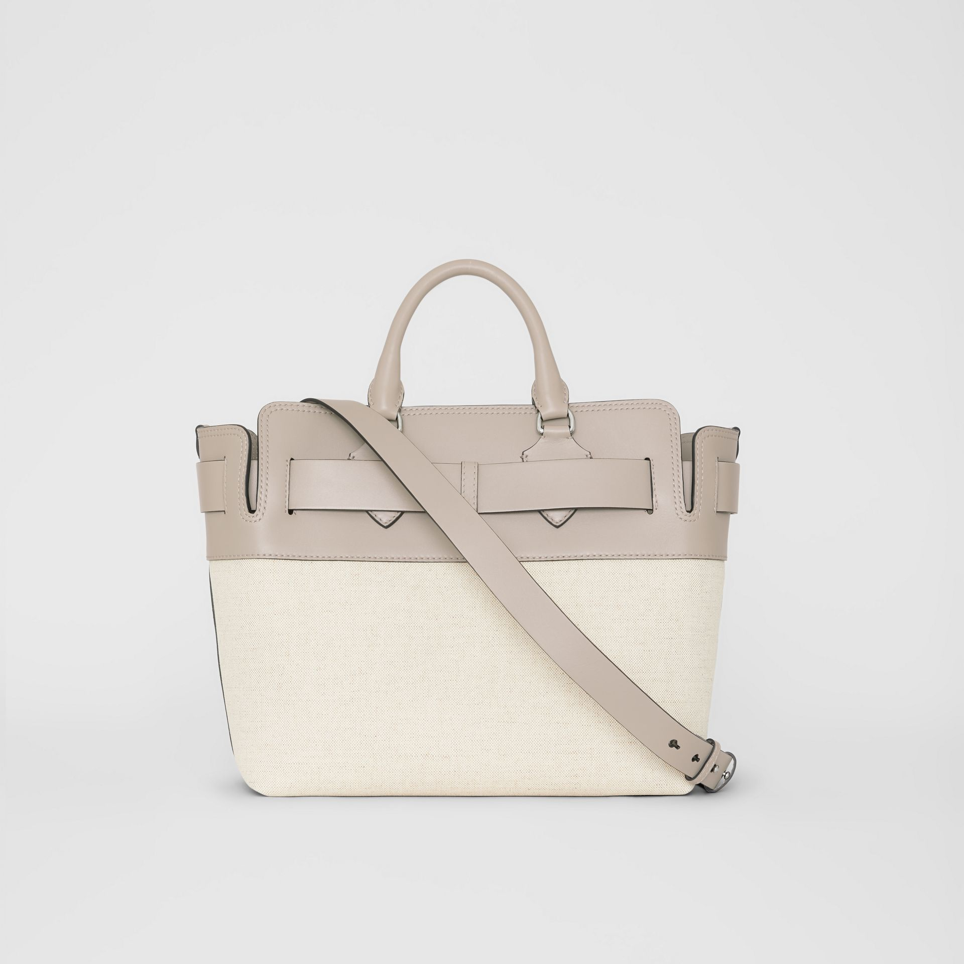 The Medium Canvas and Leather Belt Bag in Grey/stone - Women | Burberry - gallery image 7