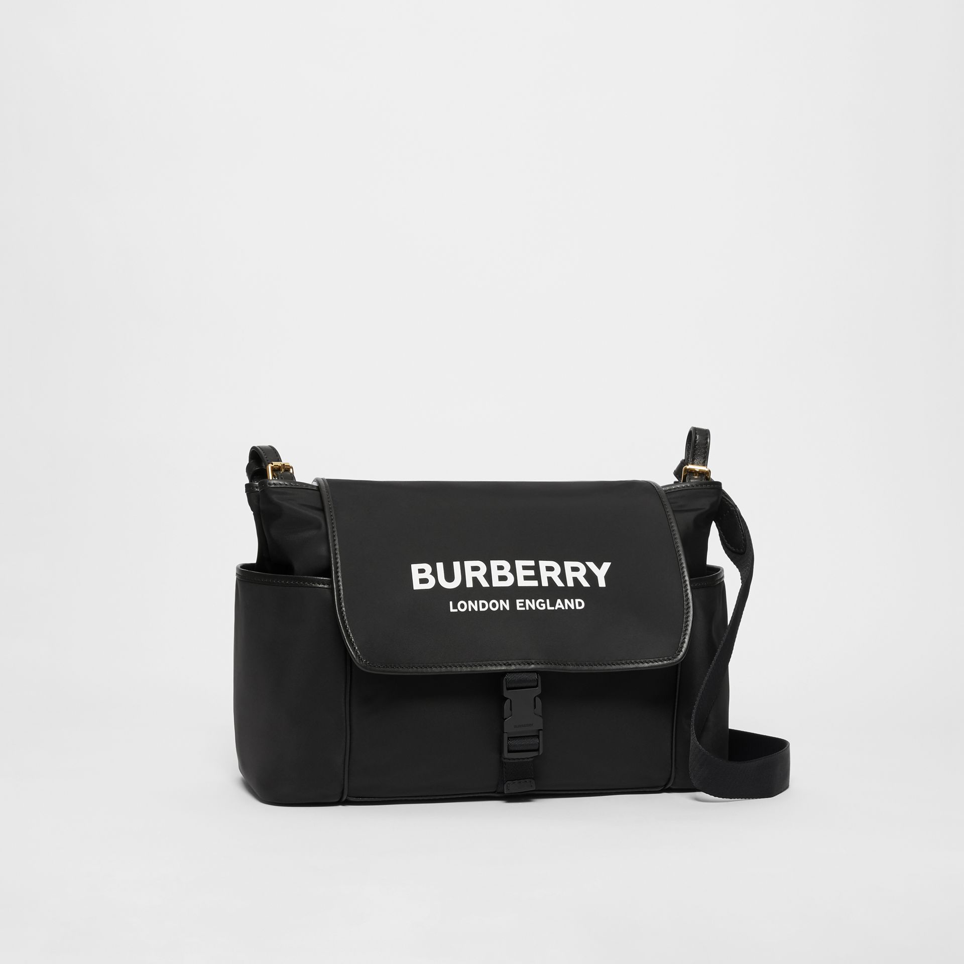 Logo Print Baby Changing Bag in Black - Children | Burberry - gallery image 4