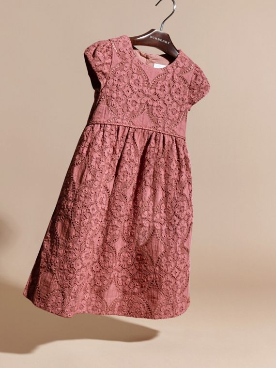 Antique rose English Floral Lace Dress - cell image 2