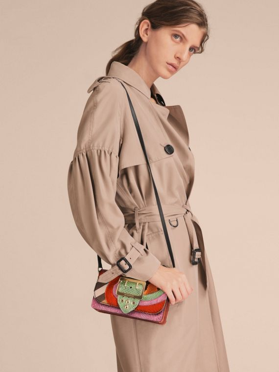 The Small Buckle Bag in House Check and Snakeskin - cell image 2