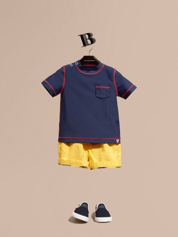 Contrast Topstitch Swim T-shirt | Burberry