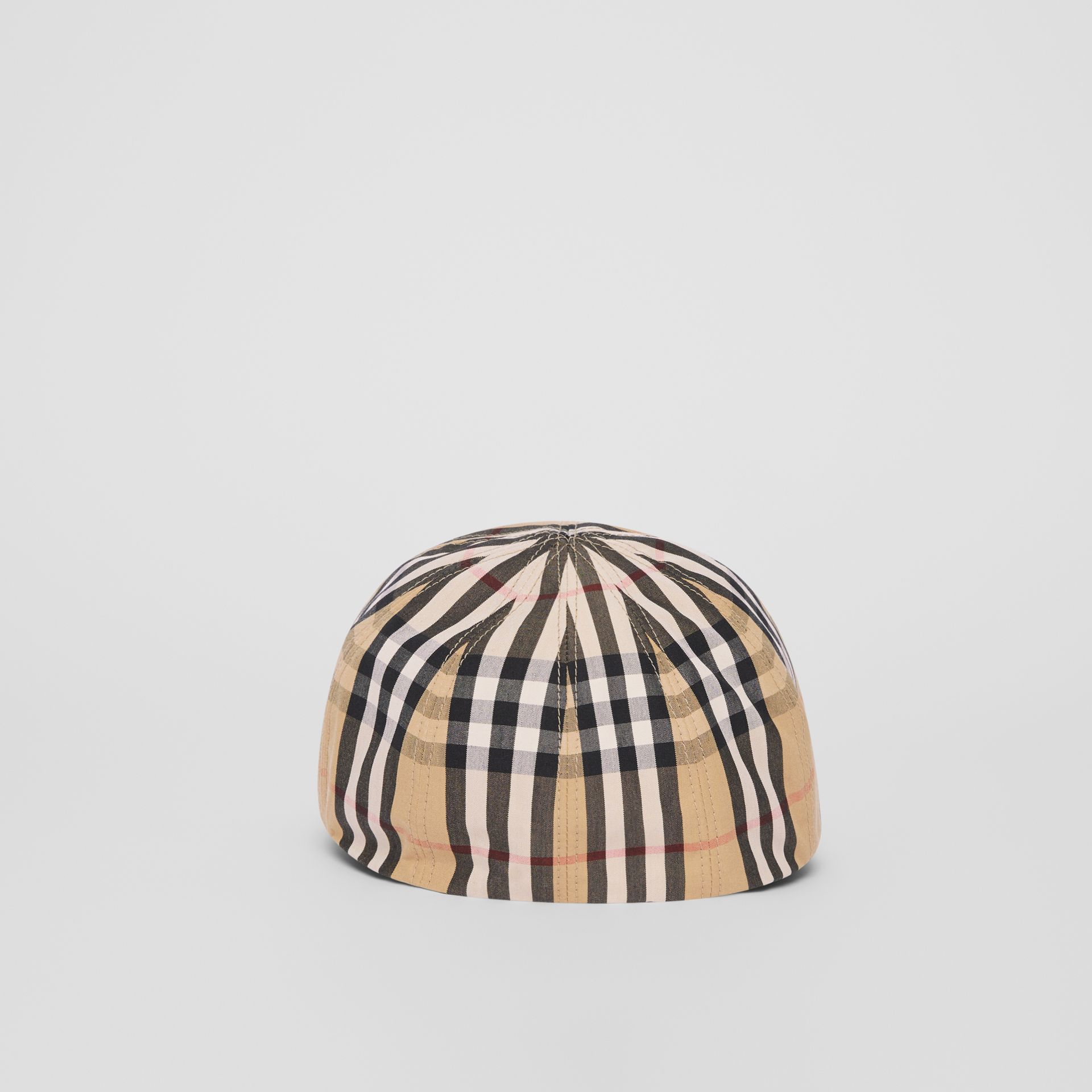 Vintage Check Cotton Flat Cap in Archive Beige | Burberry - gallery image 6