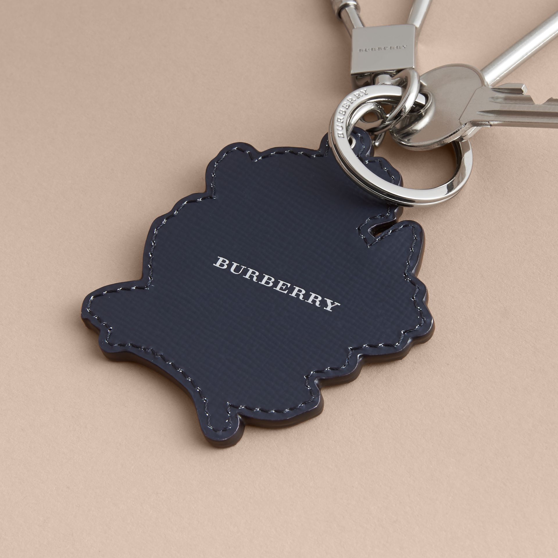 Beasts Leather Key Ring in Mauve Pink - gallery image 4