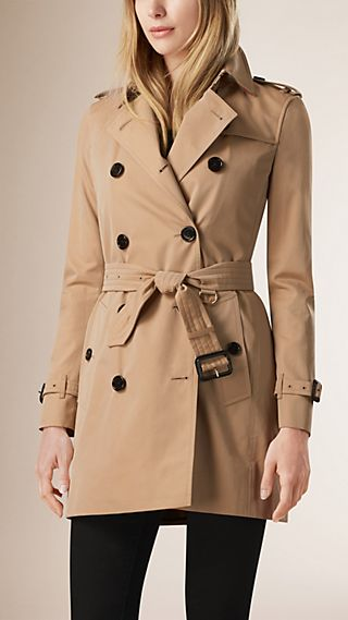 Gabardine Trench Coat with Warmer