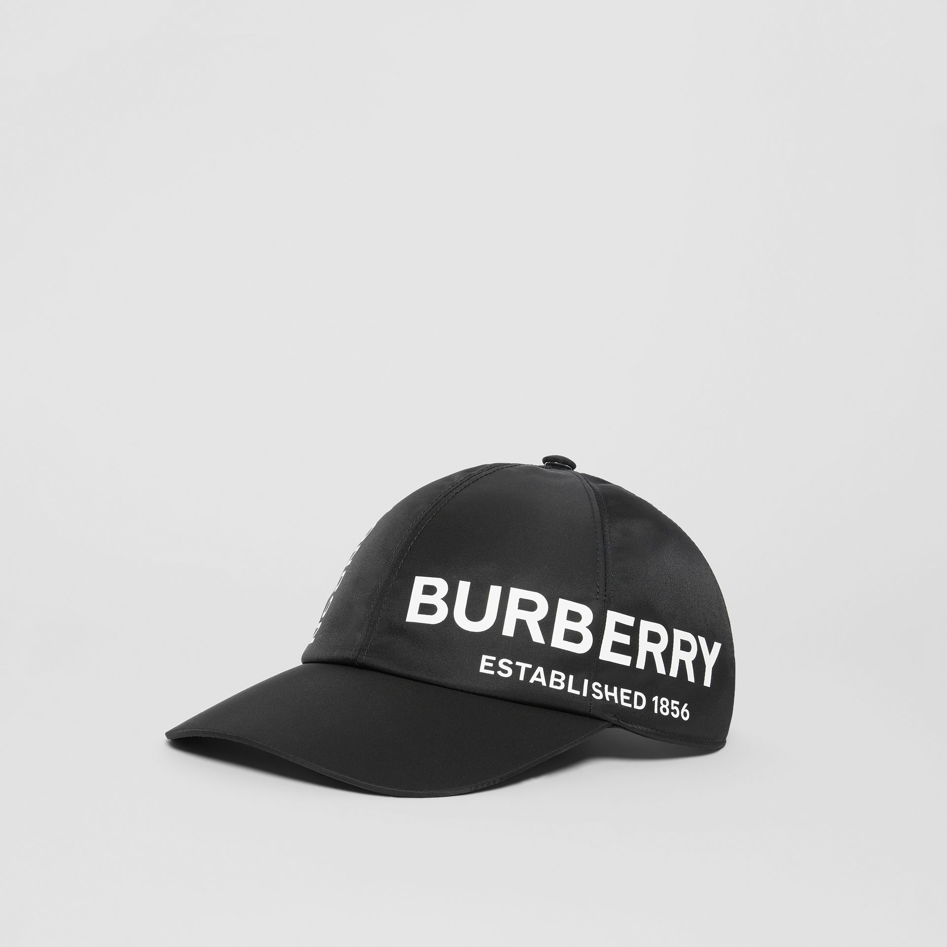 Horseferry Print Baseball Cap in Black | Burberry - gallery image 3
