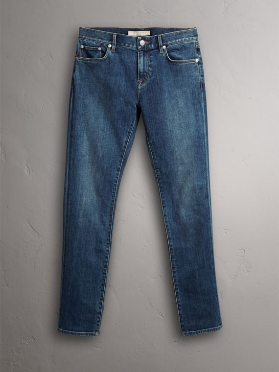 Slim Fit Japanese Denim Jeans - Men | Burberry - cell image 3