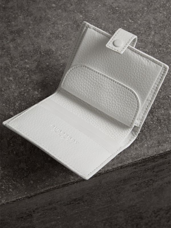 Embossed Leather Folding Wallet in Chalk White - Women | Burberry - cell image 3
