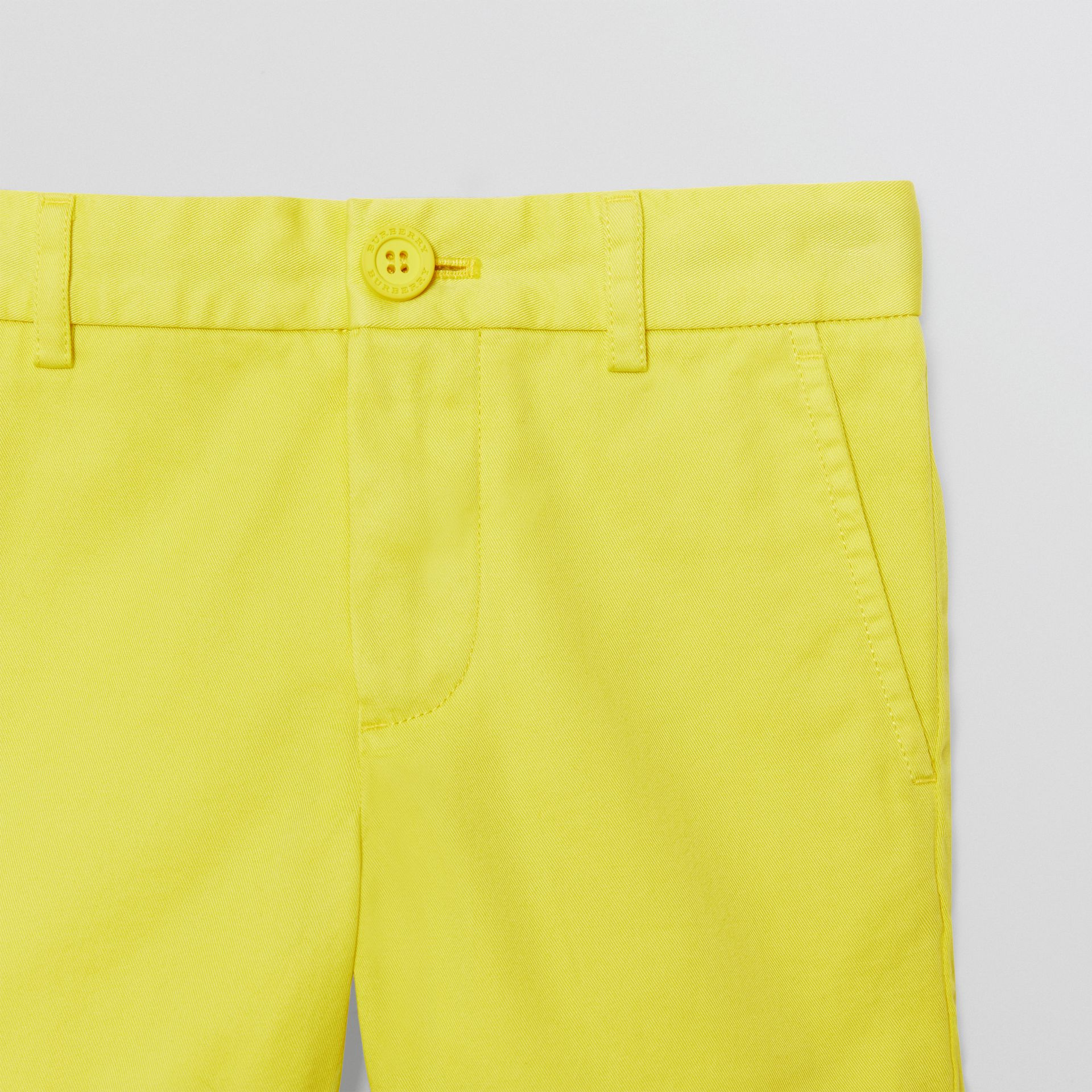 Cotton Chino Shorts in Citron | Burberry - gallery image 4