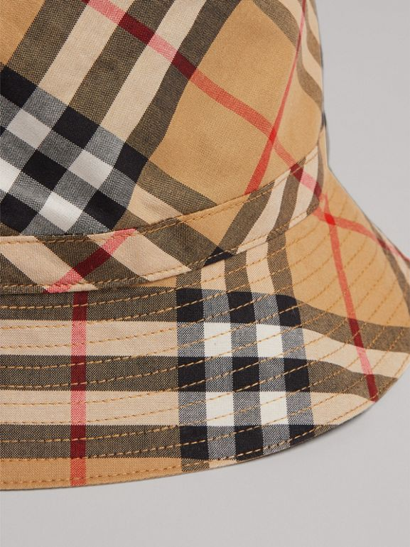 Vintage Check Bucket Hat in Antique Yellow | Burberry - cell image 1