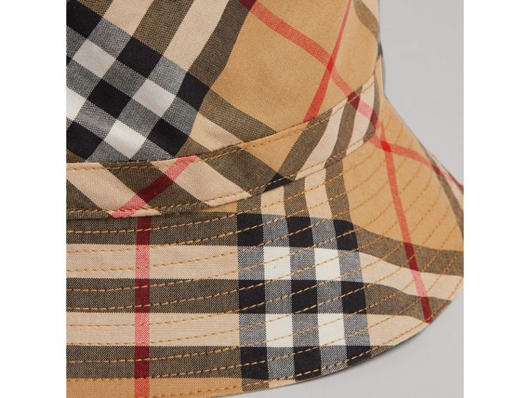 Vintage Check Bucket Hat in Antique Yellow | Burberry United Kingdom - cell image 1