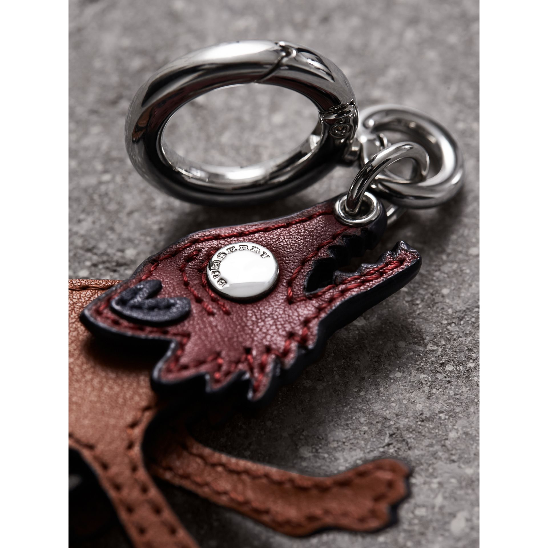 Beasts Leather Key Ring - Men | Burberry - gallery image 2