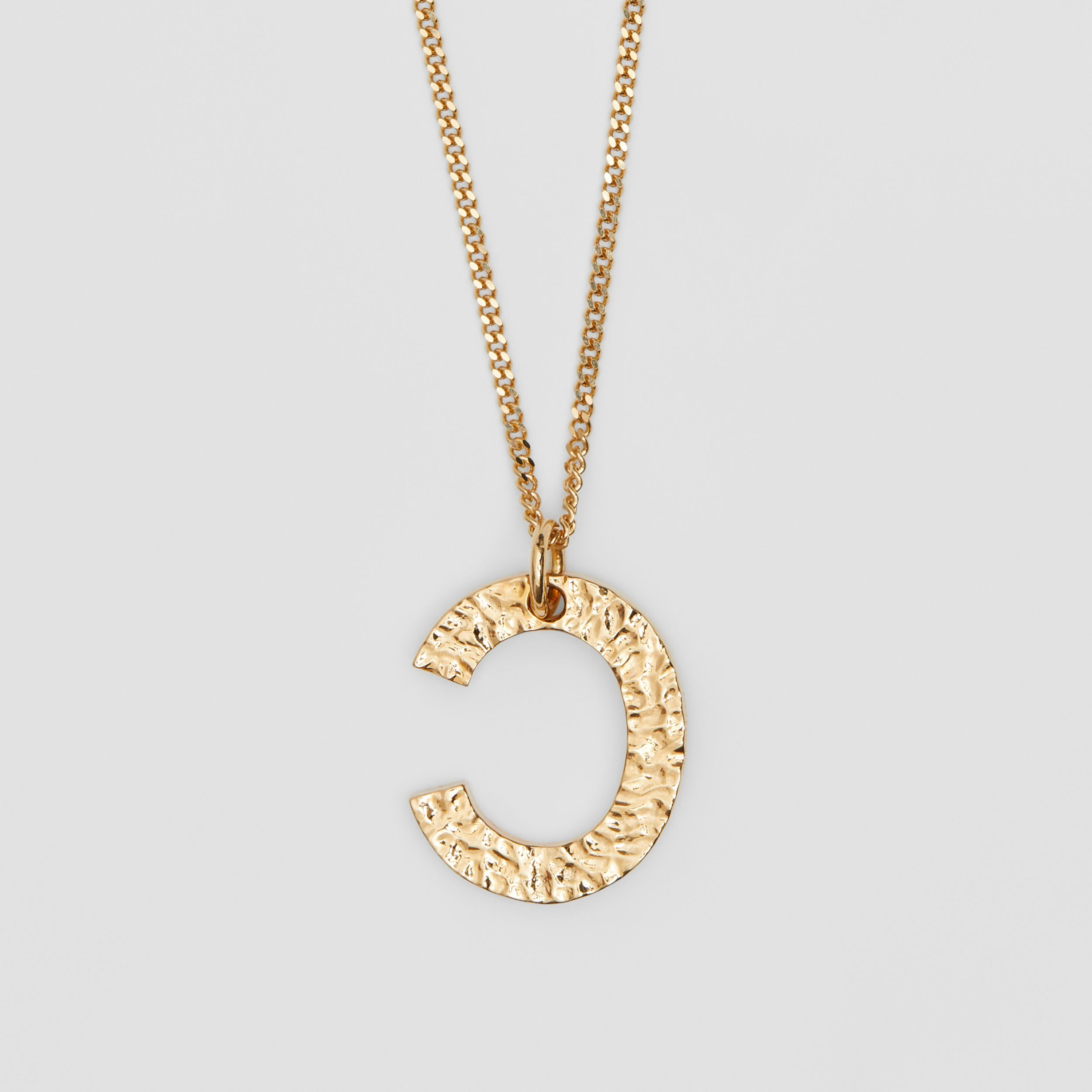 'C' Alphabet Charm Gold-plated Necklace in Light - Women | Burberry - 3