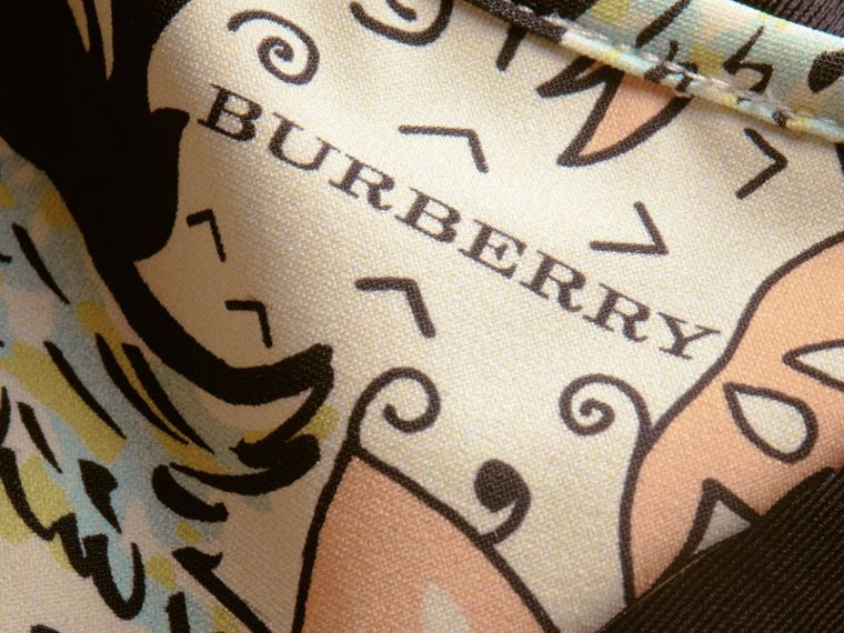 Beasts Print Triangle Bikini in Antique Taupe Pink - Women | Burberry Hong Kong - cell image 1