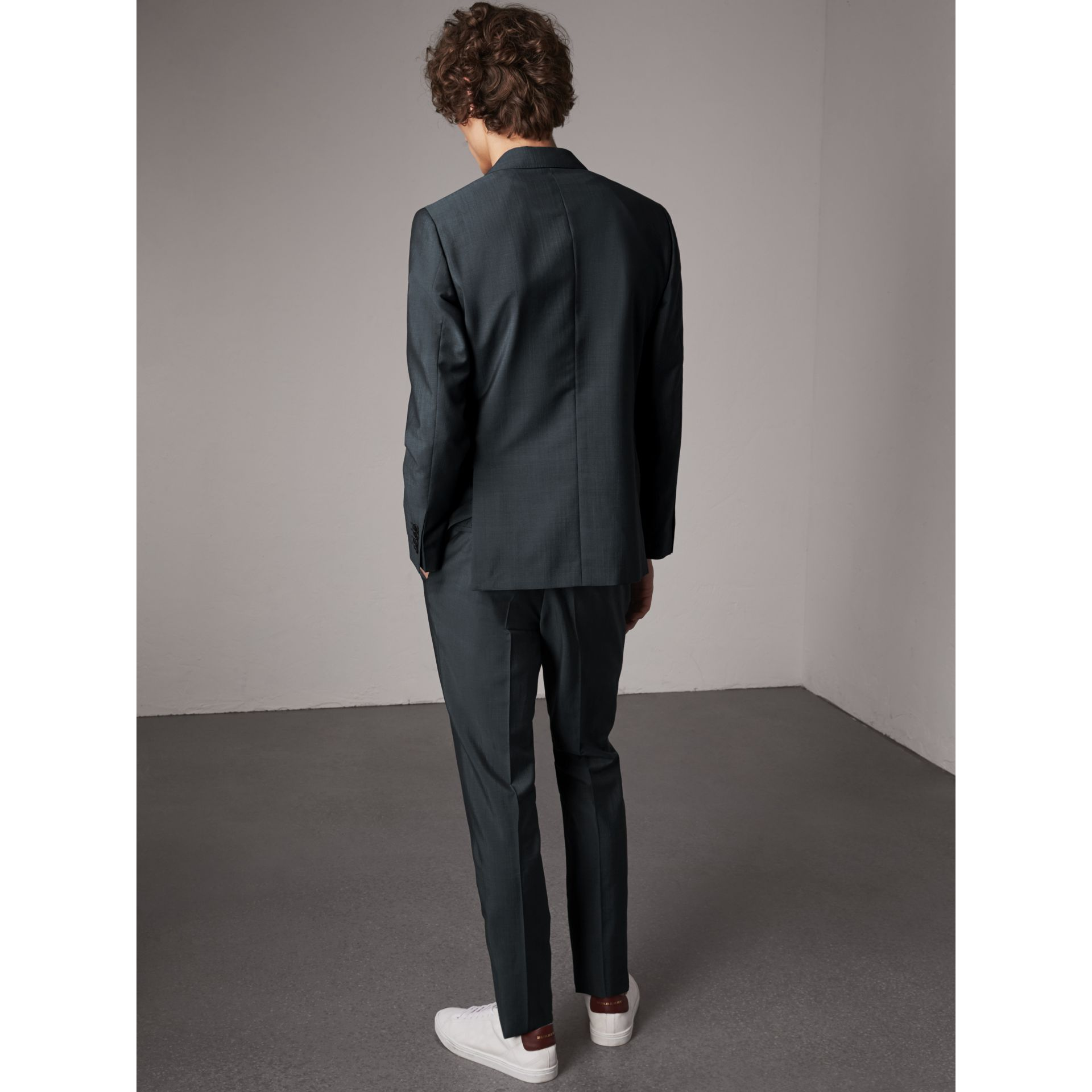 Soho Fit Wool Mohair Suit in Petrol Blue - Men | Burberry - gallery image 5