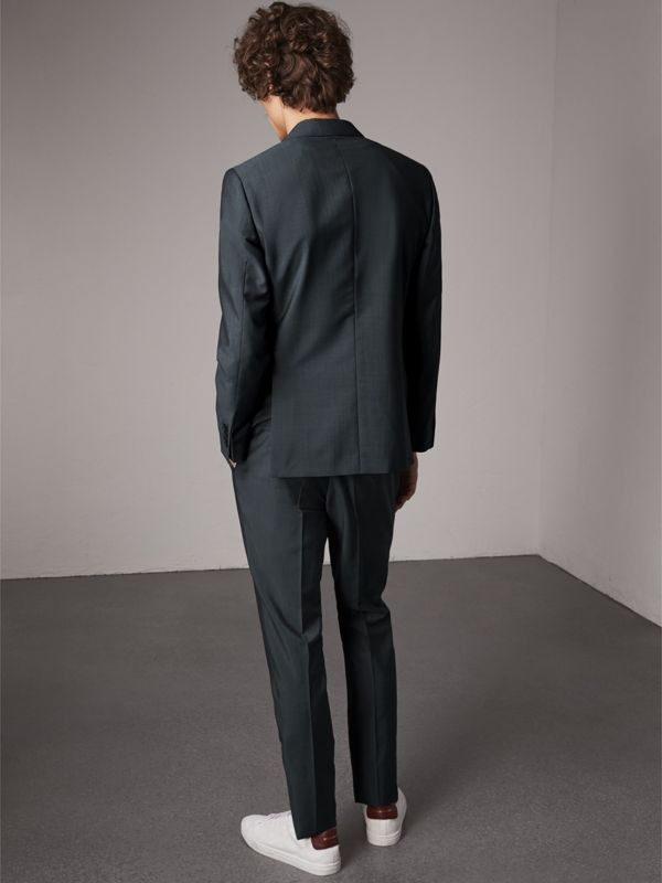 Soho Fit Wool Mohair Suit in Petrol Blue - Men | Burberry Canada - cell image 2