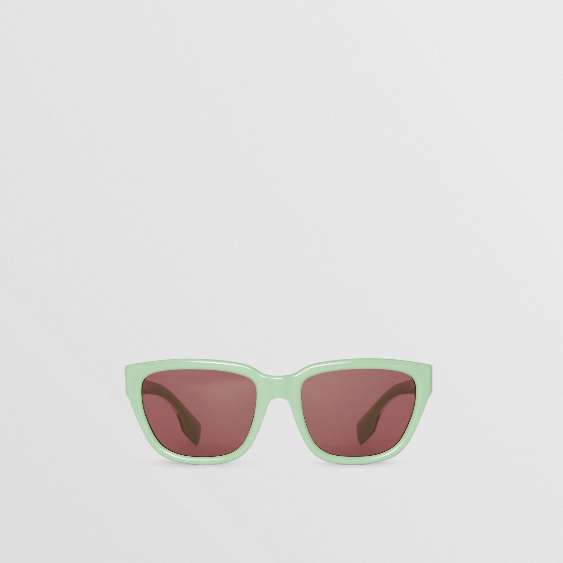 Square Frame Sunglasses in Mint Green - Women | Burberry Hong Kong - gallery image 0