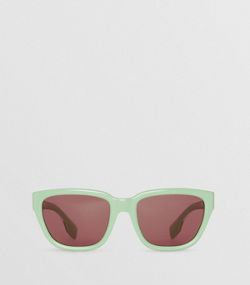 3ef7d2ddb90 Square Frame Sunglasses in Mint Green