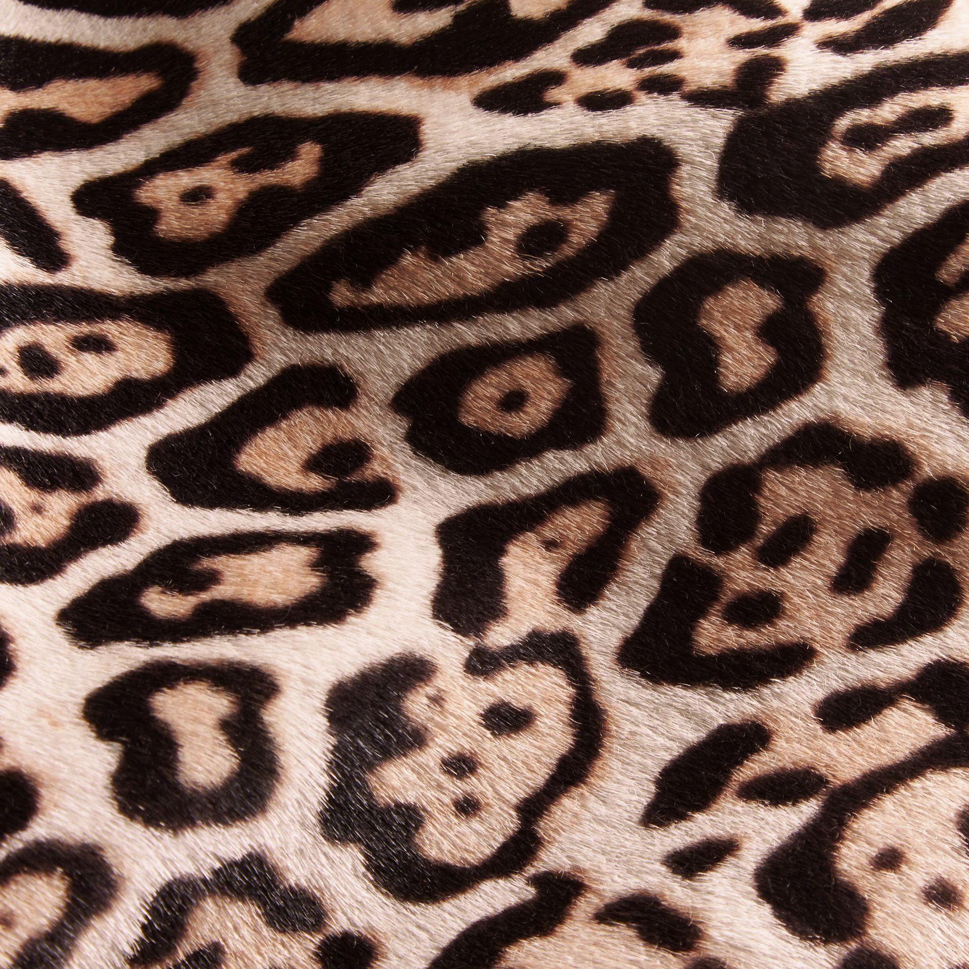 Camel Leopard Print Shearling Coat - gallery image 2