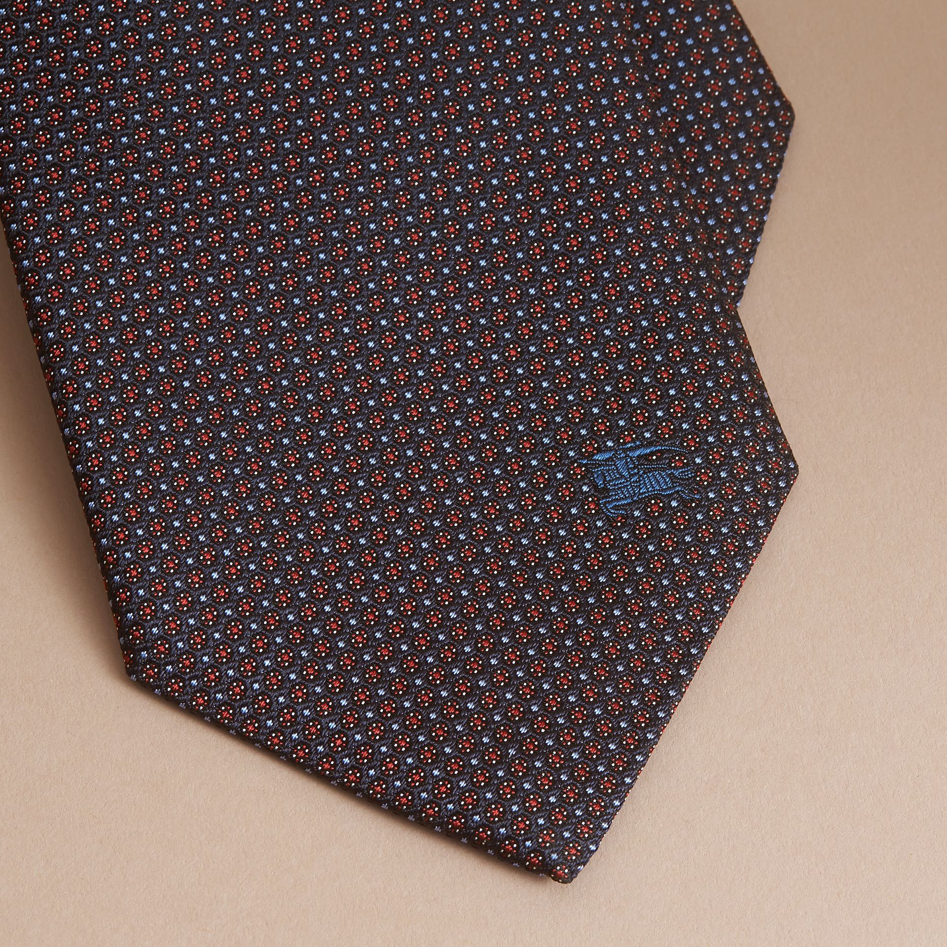 Classic Cut Patterned Silk Tie - Men | Burberry - gallery image 2