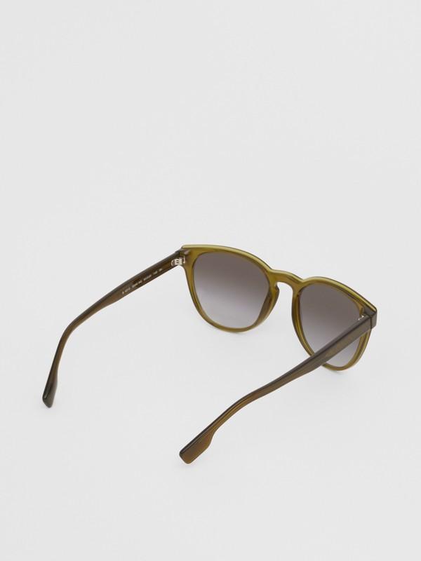 Round Frame Sunglasses in Olive - Men | Burberry Australia - cell image 3