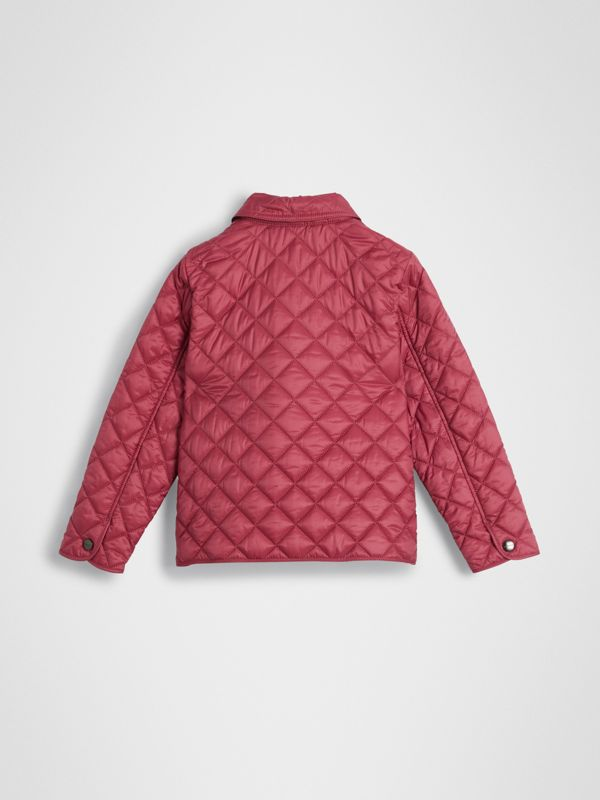 Lightweight Diamond Quilted Jacket in Peony Rose | Burberry United Kingdom - cell image 3