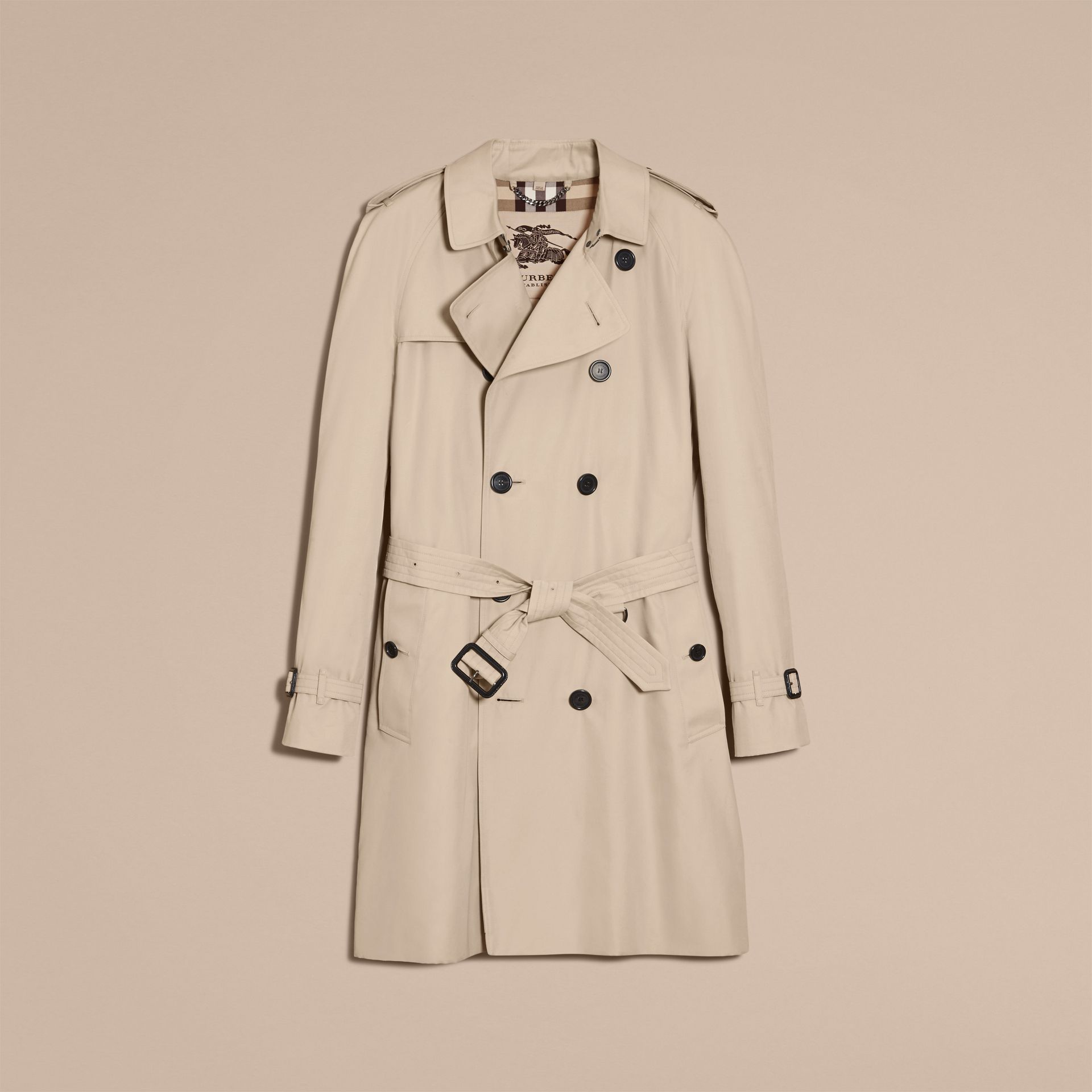 Stone The Wiltshire – Long Heritage Trench Coat Stone - gallery image 4