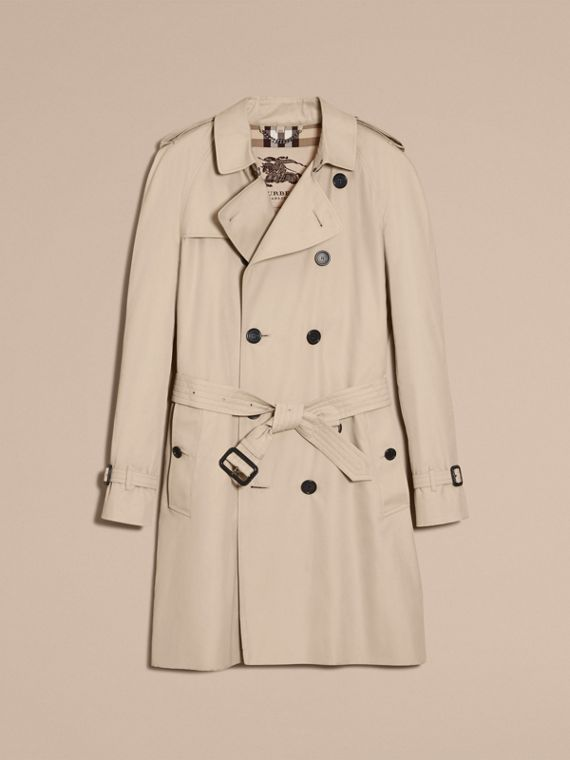 Stone The Wiltshire – Long Heritage Trench Coat Stone - cell image 3