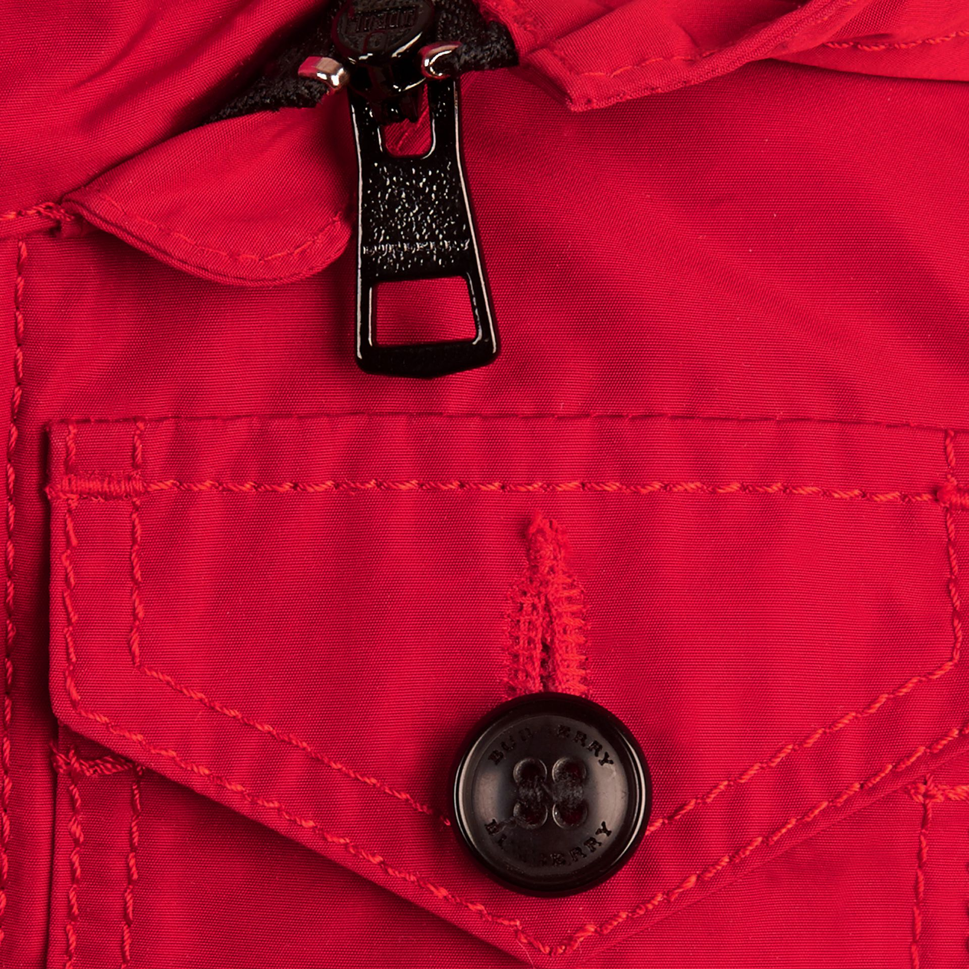 Hooded Field Jacket in Military Red | Burberry - gallery image 2
