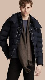 Down-filled Silk Wool Puffer Jacket