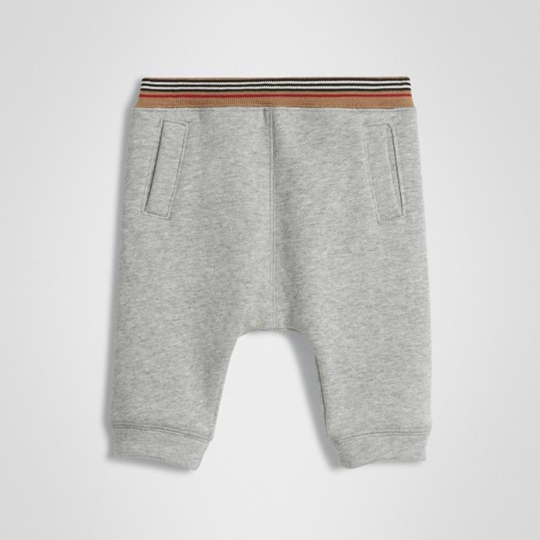 Burberry - Pantalon de survêtement en jersey de coton à rayures iconiques - 1