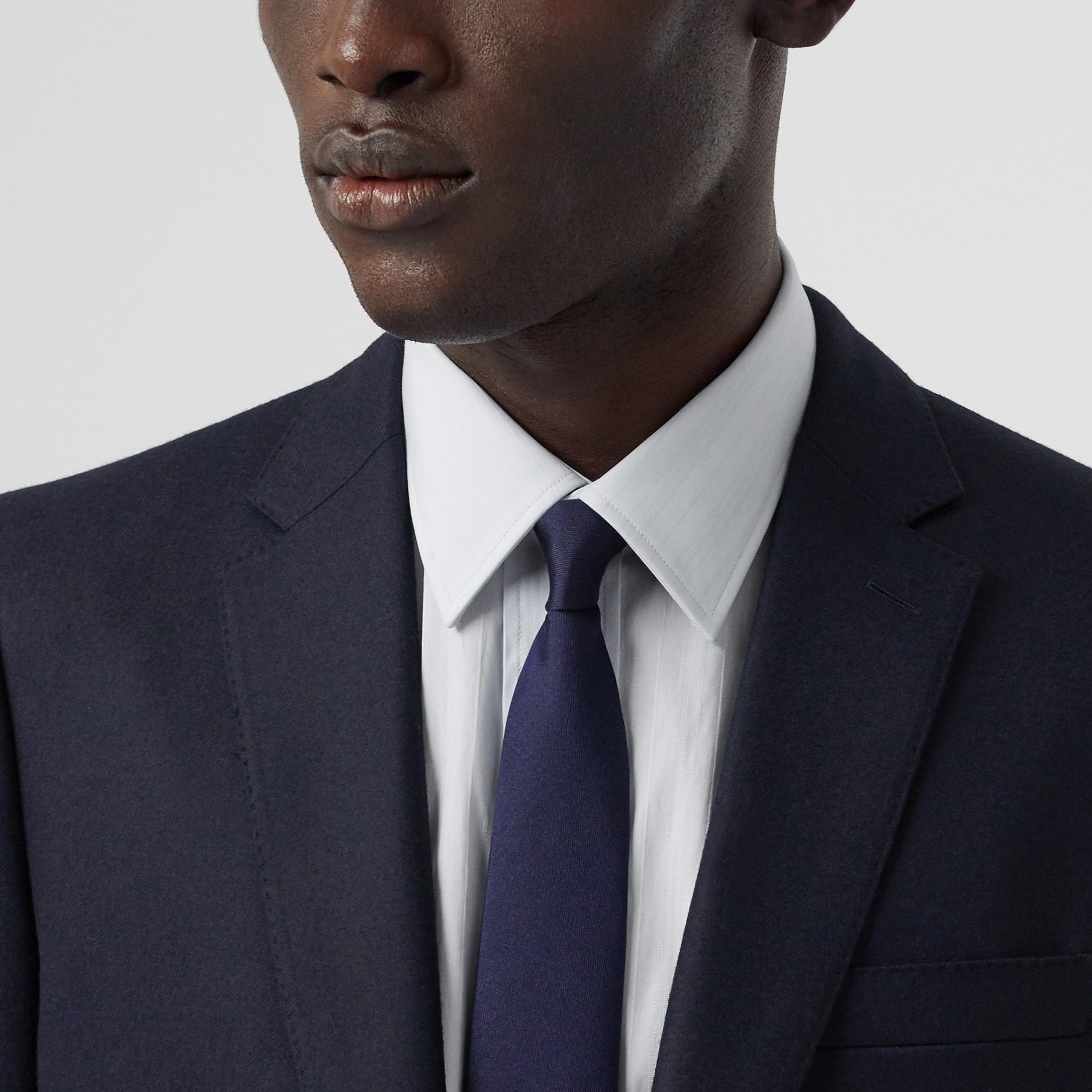 클래식핏 울 플란넬 테일러드 재킷 (네이비) - 남성 | Burberry - 갤러리 이미지 1