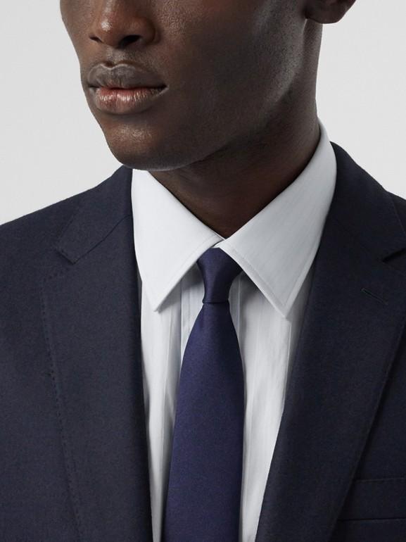 클래식핏 울 플란넬 테일러드 재킷 (네이비) - 남성 | Burberry - cell image 1