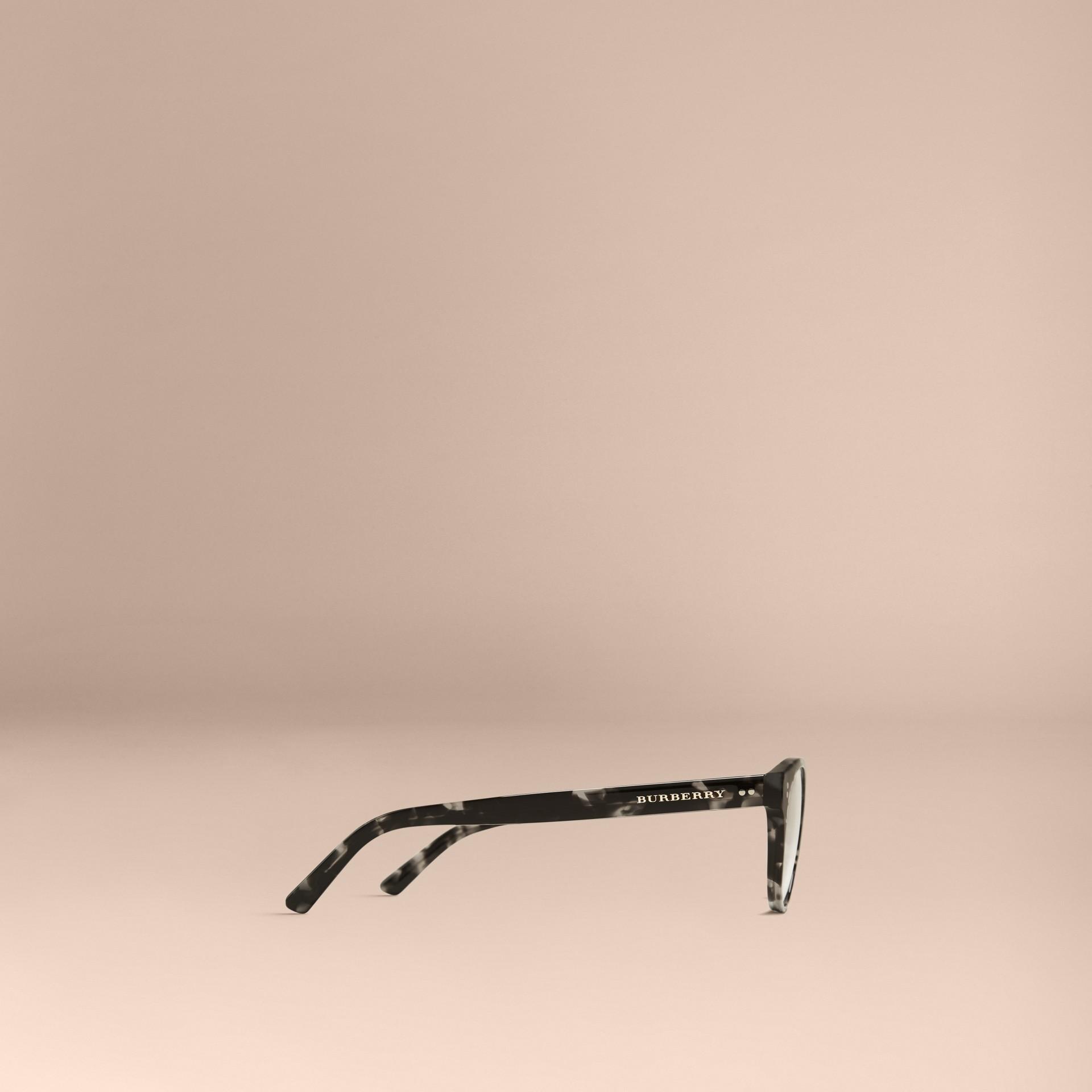 Gris Monture ronde pour lunettes de vue Gris - photo de la galerie 4